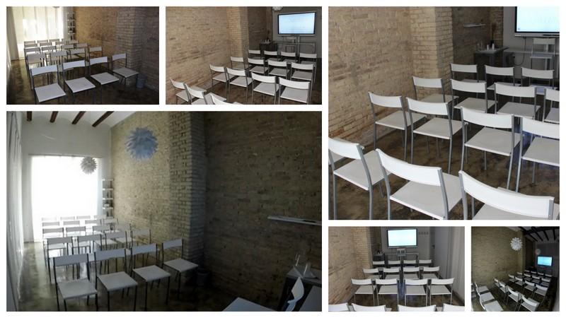 Coworking Valencia. Sala de reuniones. Disposición en teatro