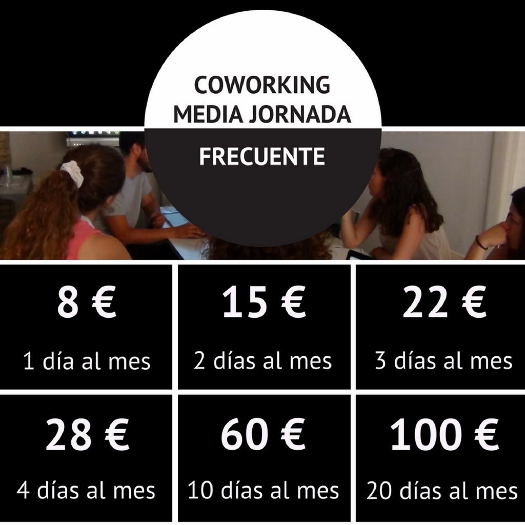 Tarifas Coworking Valencia Media Jornada