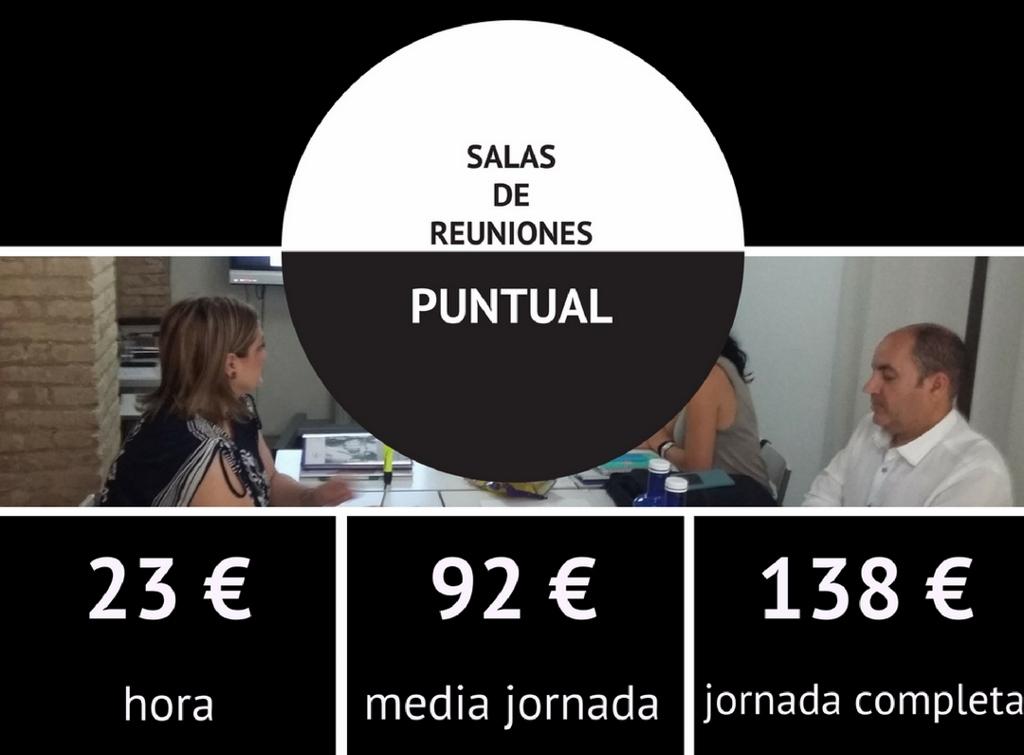 Tarifas Salas de Reuniones Cowoking Valencia