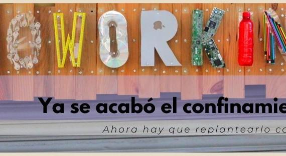Cartel CoworkingValencia confinamiento